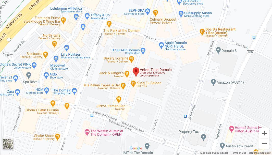 Austin Google Maps Desktop