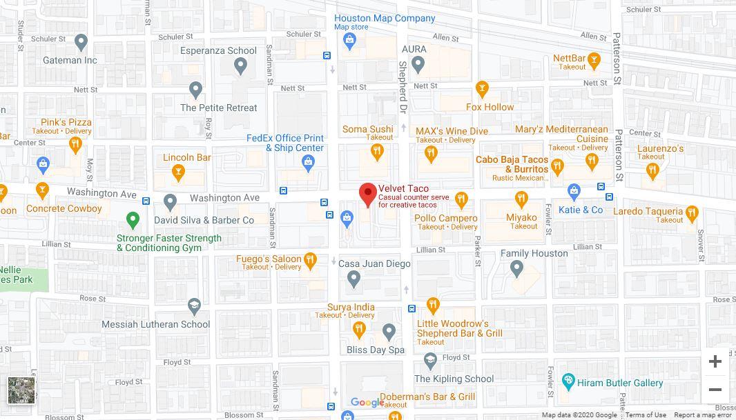 Houston – Washington Google Maps Desktop