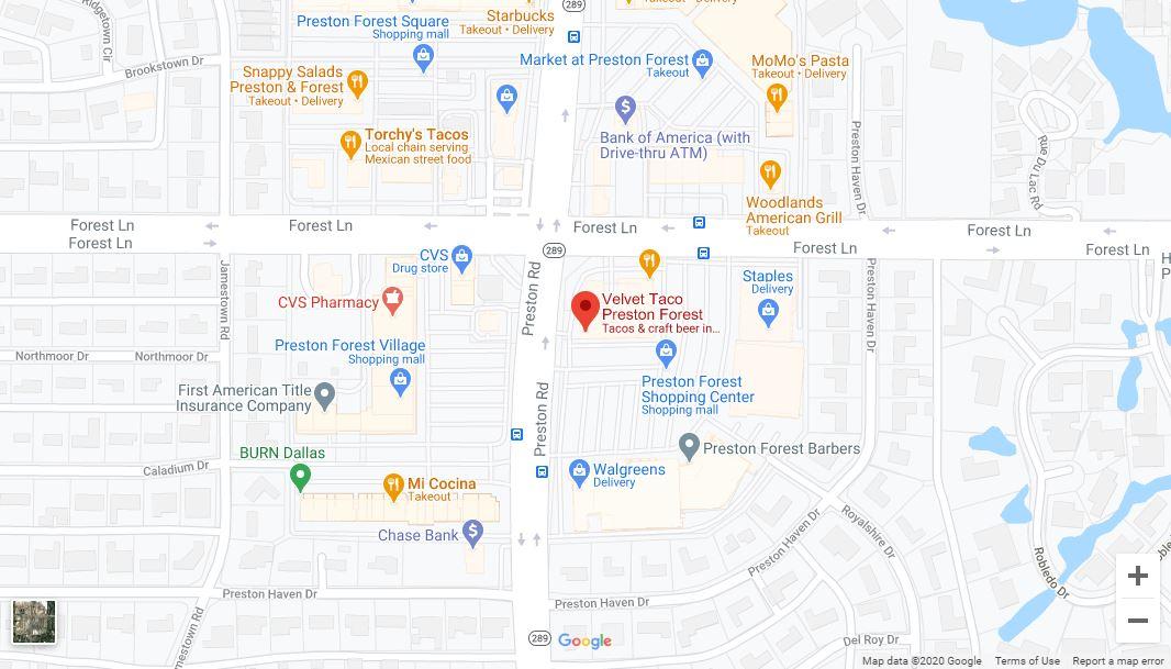 Dallas – Preston/Forest Google Maps Desktop