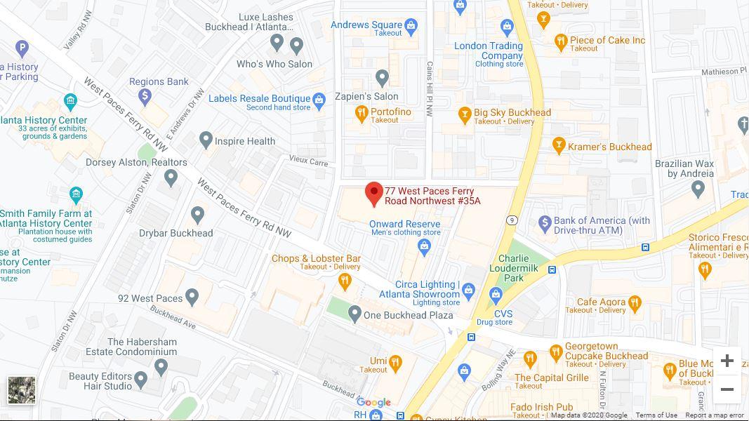 Atlanta – Buckhead Google Maps Desktop