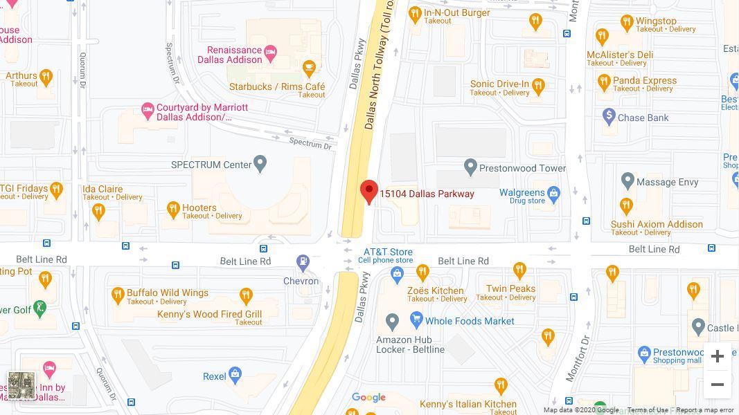 Dallas – Addison Google Maps Desktop