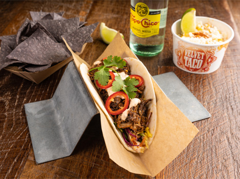 Order Online Link - Falafel Taco from Velvet Taco