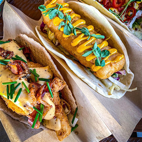 Calling all adventurous foodies: This globally inspired gourmet taco shop aims to please