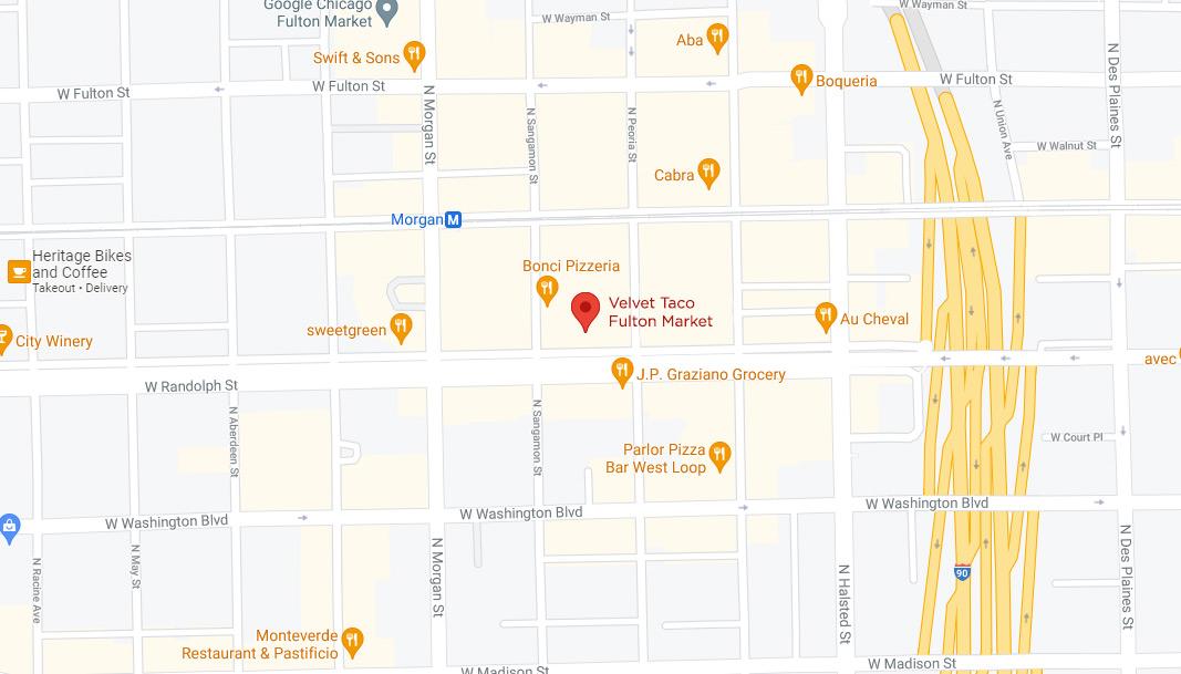 Fulton Market Google Maps Desktop