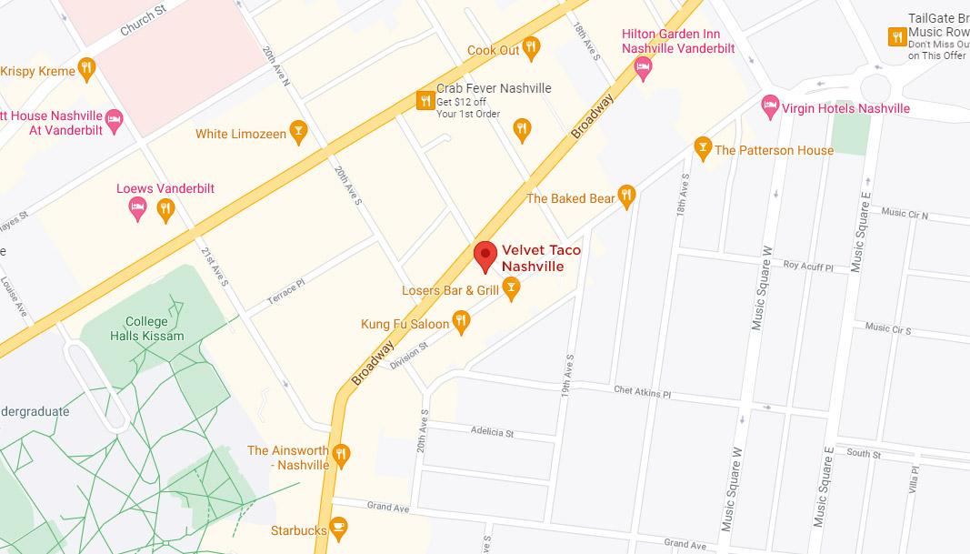 Nashville – Midtown Google Maps Desktop