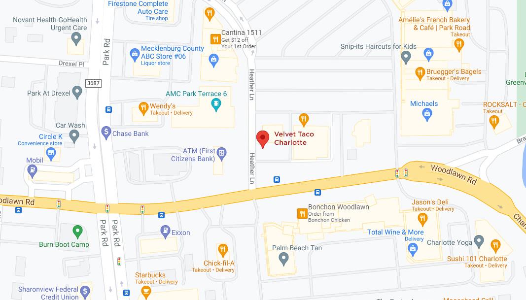 Charlotte – Park Road Google Maps Desktop